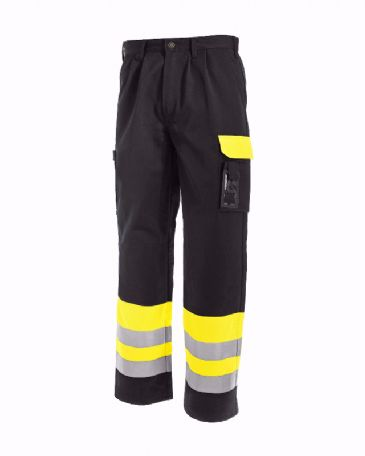 Blaklader 1584 High Visibility Trousers (Yellow/Black)